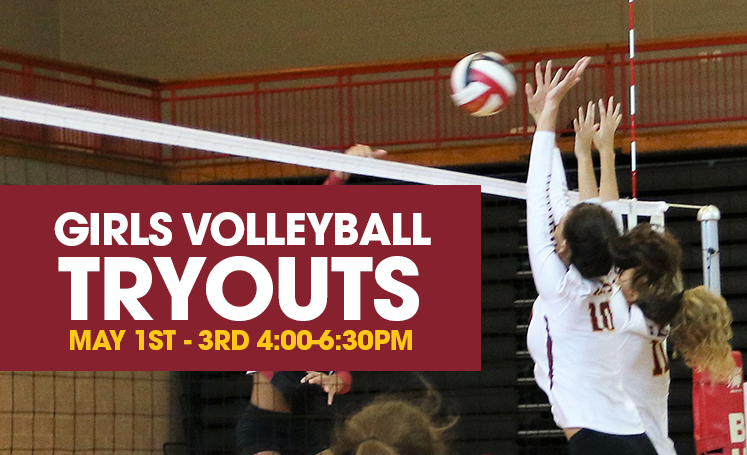 Volleyball Tryouts for all rising 9th, 10th, 11th, and 12th graders